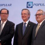 Felipe Vicini, Presidente Ejecutivo de INICIA, junto a Manuel A. Grullón, Presidente de Grupo Popular y Marcial Najri, Presidente de Grupo Najri, durante la celebración de la cuarta edición del Foro Empresarial Impulsa Popular.
